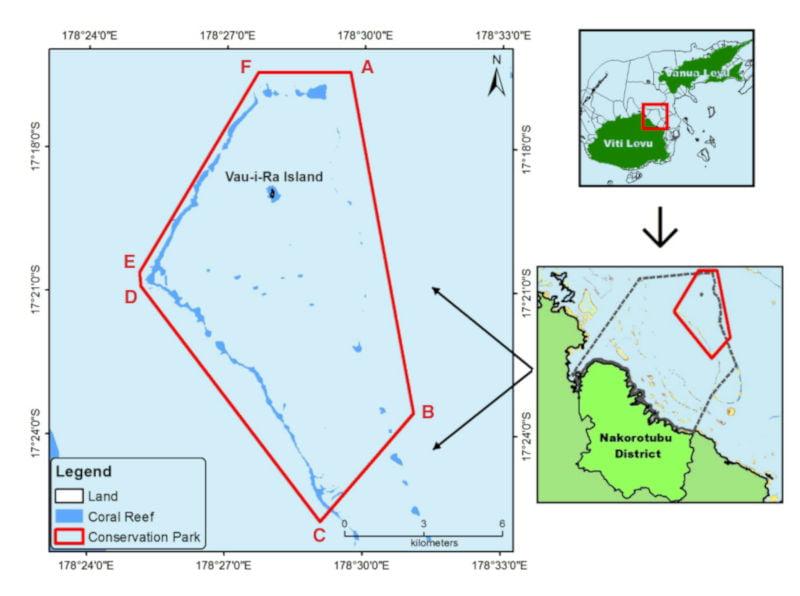 Location and boundaries of the Vatu-i-Ra Conservation Park
